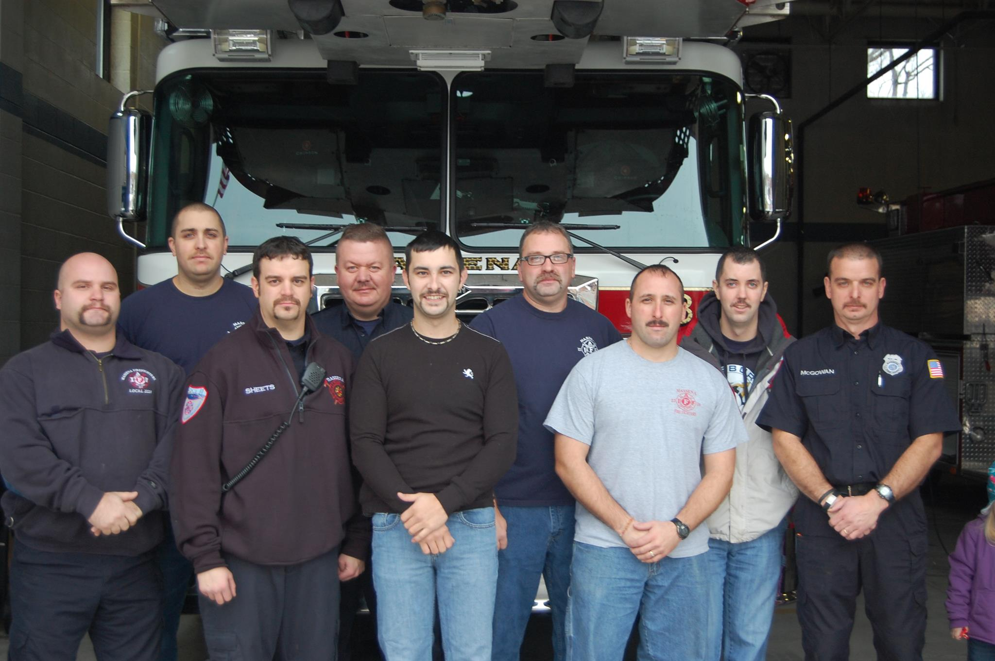 Movember 2013 Massena Fire