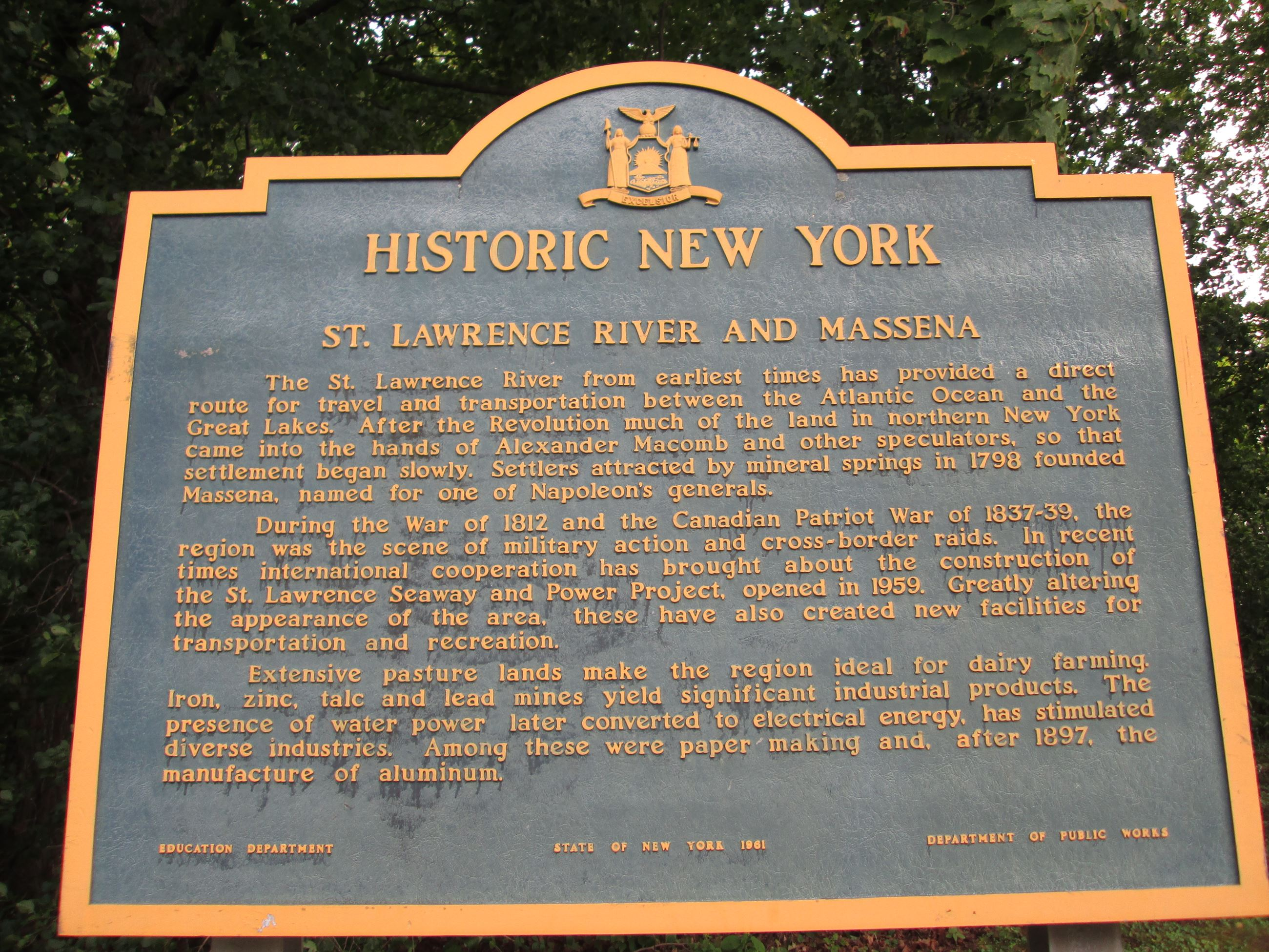 New York State Historic Marker